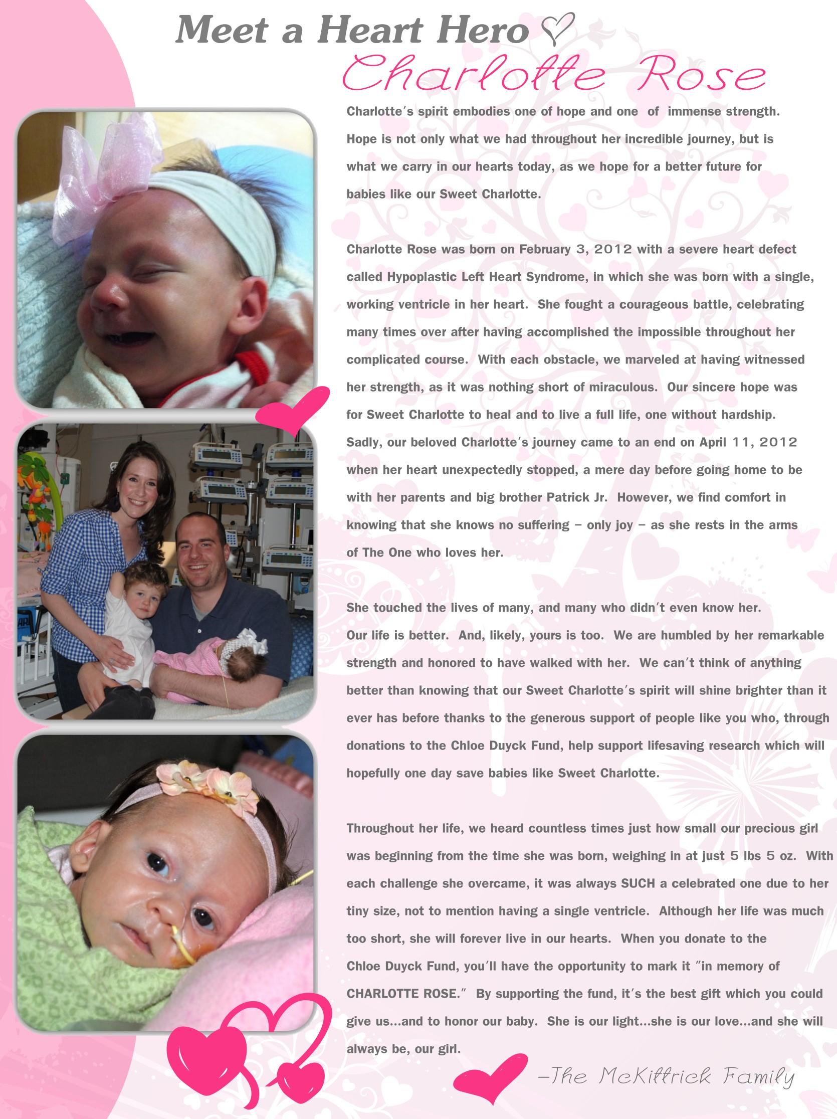 Meet a Heart Hero, Charlotte Rose